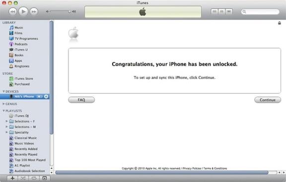 unlock iPhone 7 Plus finished