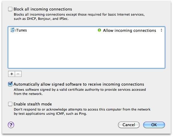 itunes error 50-Check Firewall/Antivirus Settings