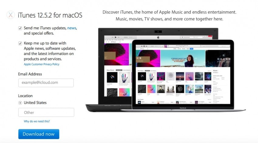 itunes error 50-Download the latest version of iTunes
