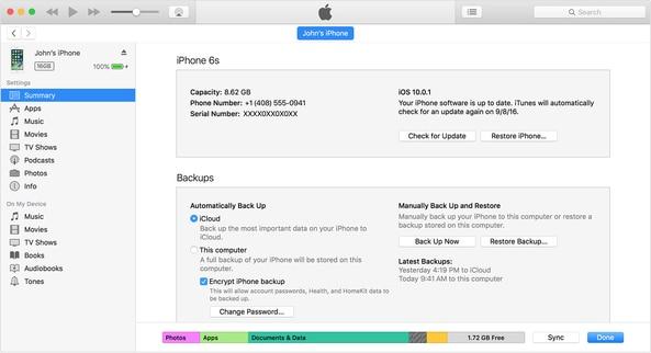iTunes wiederherstellen
