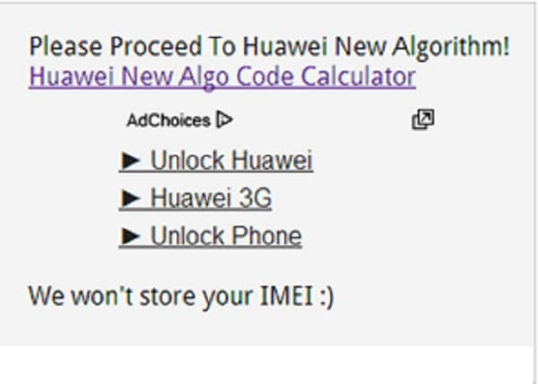 unlock huawei e303 using huawei code calculator