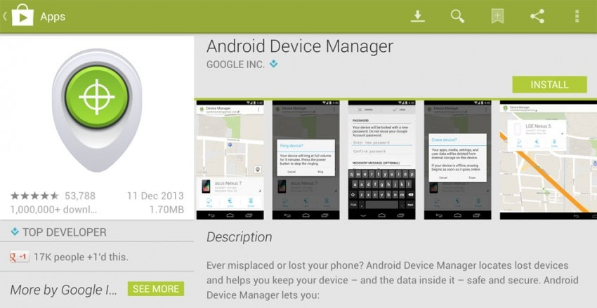 reset lg phone with android device manager
