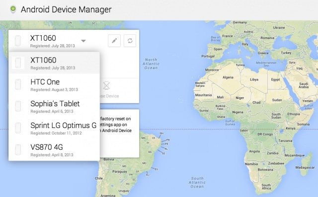 reset samsung tablet - log in android device manager