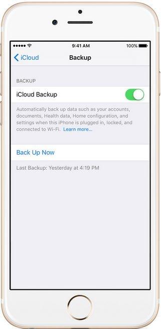 backup iPhone 8