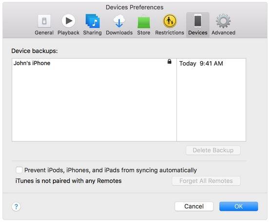 iPhone 8 backup