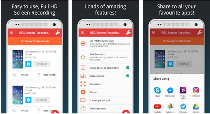 az screen recorder alternative - screen recorder no root hd