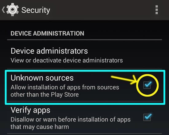 root gt i9505 - enable download from unknown sources