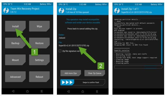 root sm g900h - twrp recovery mode