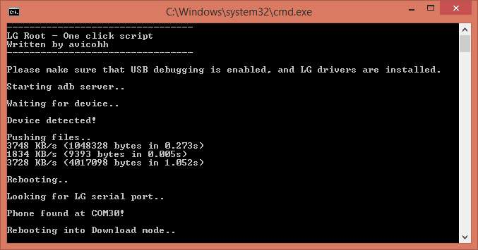 lg one click root - install one click root script