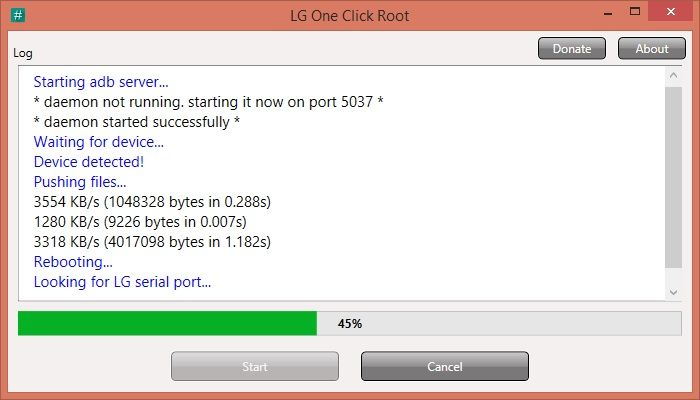 root lg d722 - lg one click root