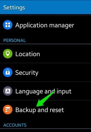 samsung account backup - backup and restore