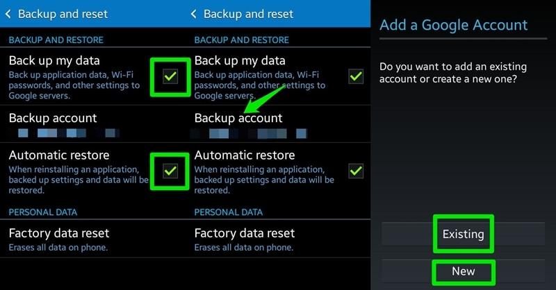 samsung account backup - backup my data