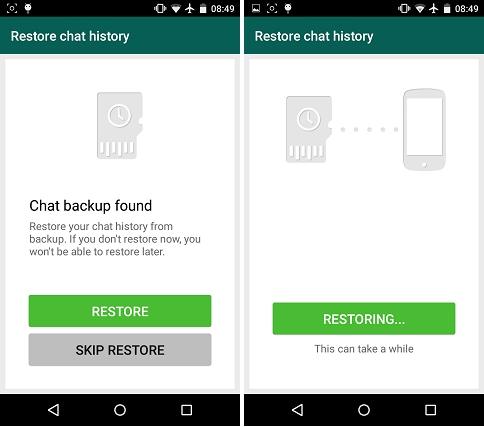 How to transfer whatsapp to new phone-restore
