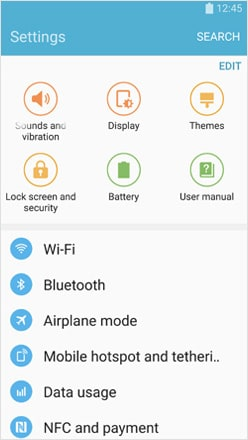 samsung lost phone-Screen and Security