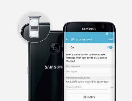 samsung lost phone-set up a guardian