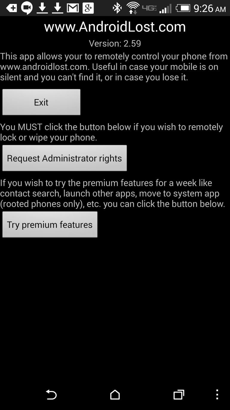 samsung lost phone-Install and configure Android Lost