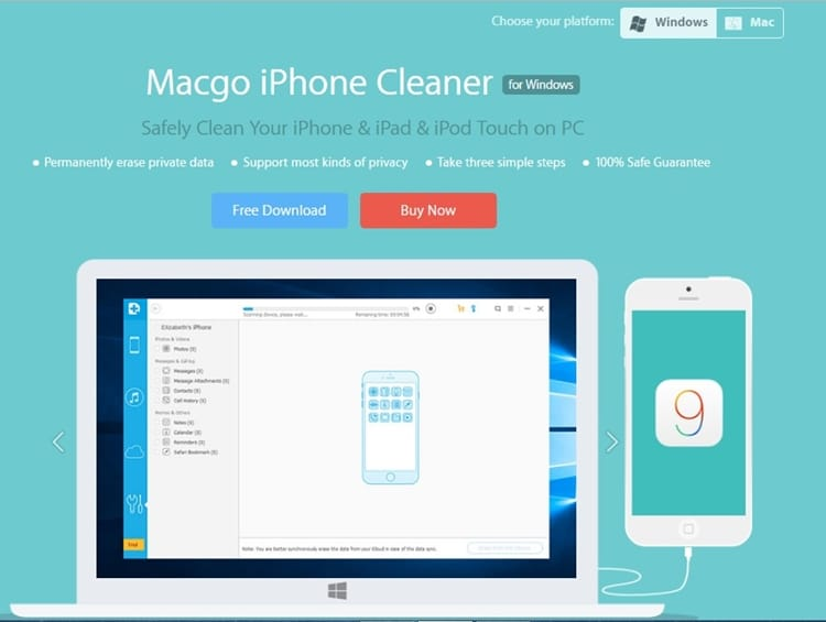 macgo free iphone cleaner