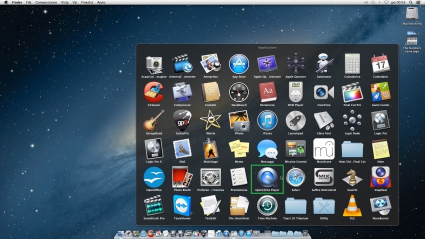 launch quicktime