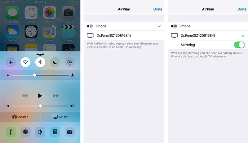 tap on airplay