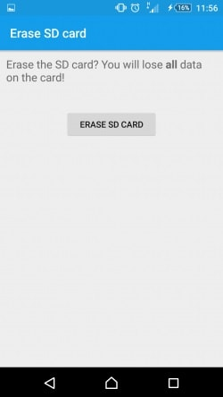 erase sd card