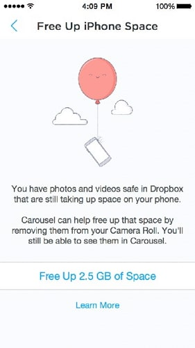 how to free up storage on iphone-dropbox