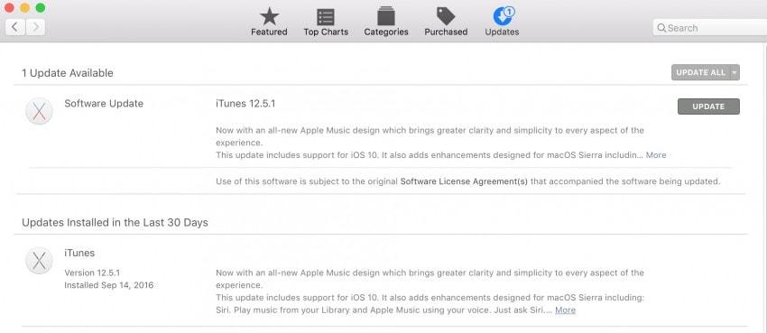 update notification