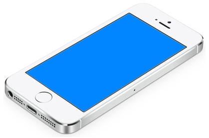 Blauer Bildschirm iPhone