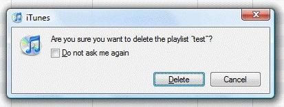 delete itunes playlist