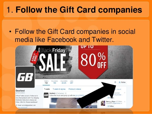 follow the gift card companies