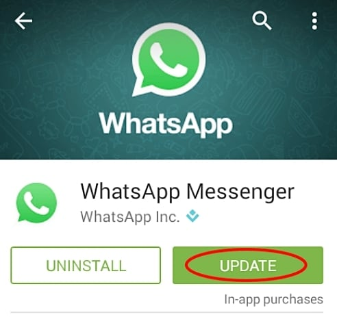 إصلاح مشاكل WhatsApp-تطبيق غير مدعوم