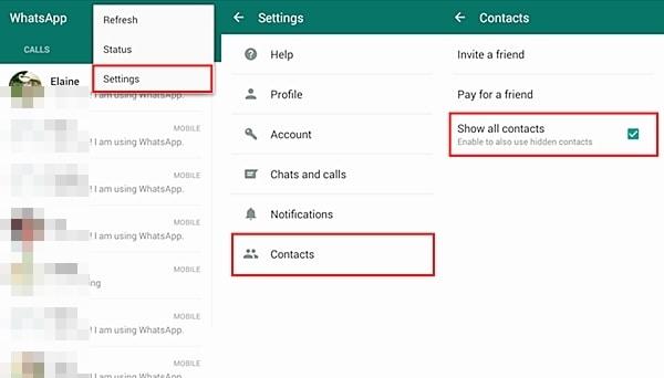 إصلاح مشاكل WhatsApp-عدم ظهور جهات الاتصال