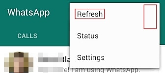 fix whatsapp problems-Can't see a newly added contact