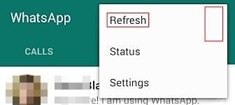 إصلاح مشاكل WhatsApp-عدم ظهور جهات اتصال مُضافة حديثاً