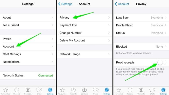 إصلاح مشاكل WhatsApp-غير قادر على تعطيل إشارة القراءة