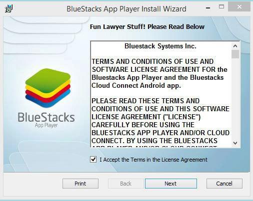 install bluestack