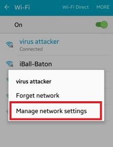Modify network settings