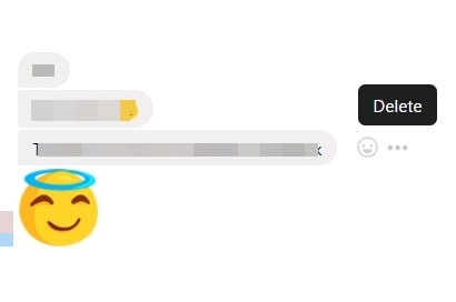 delete a single messenger message