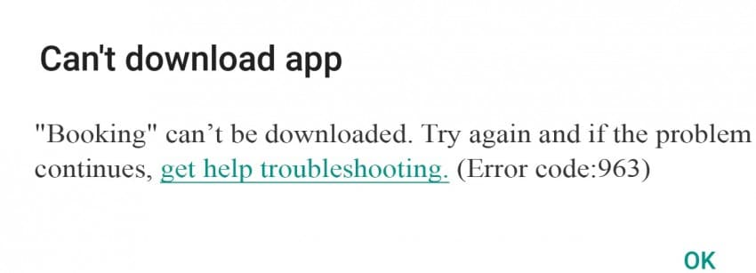 cannot download app