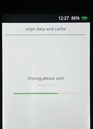 wiping