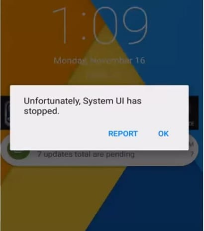 android system ui-SystemUI Has stopped