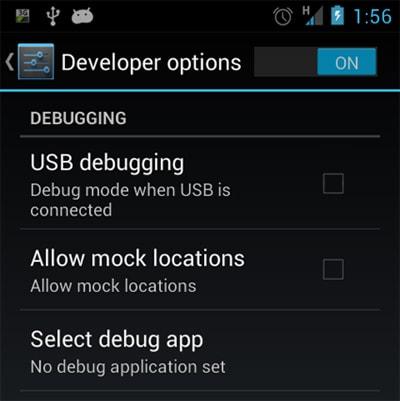 "turn on ""USB Debugging"""