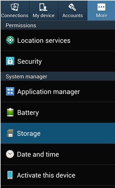 """find """"Storage"""""""