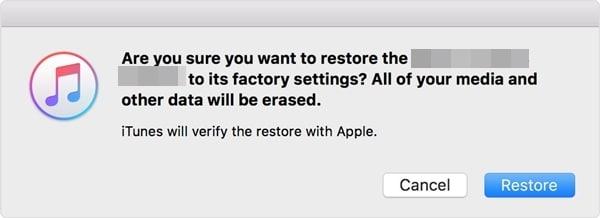 restore ipad with itunes