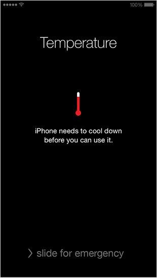 iphone temperature