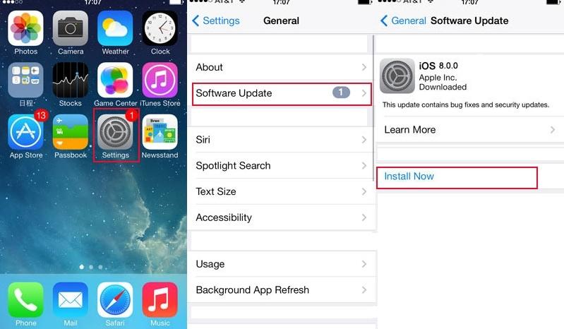 update iphone