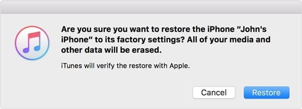 gesperrtes iPhone löschen - iPhone wiederherstellen