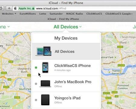 gesperrtes iPhone löschen - alle Geräte