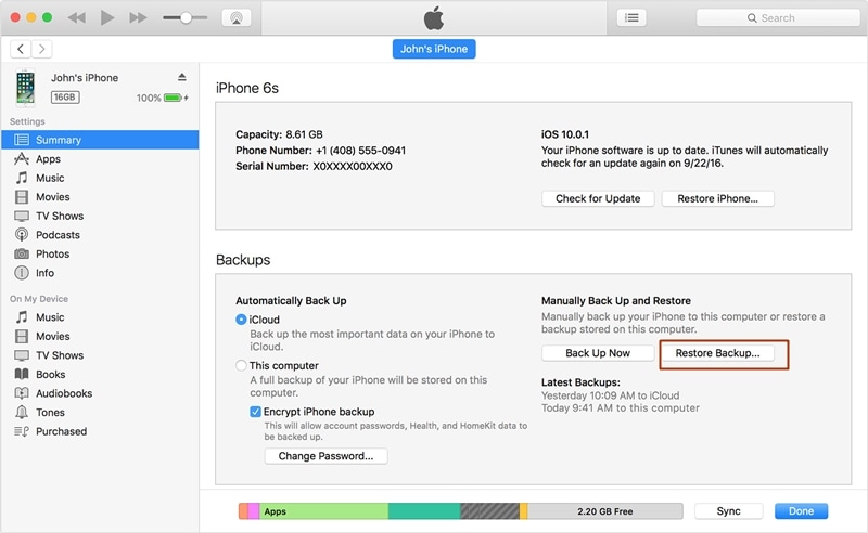 how to reset ipad without password-restore backup