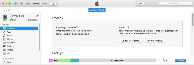 iPhone in iTunes aktualisieren
