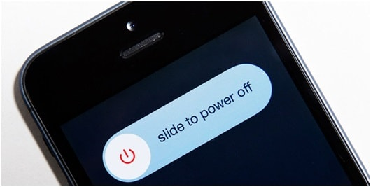 power off iphone